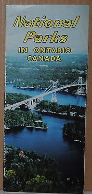 1959 National Parks of Ontario Canada travel brochure and map