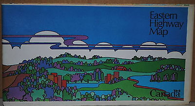 1974 Eastern Provinces of Canada Highway map