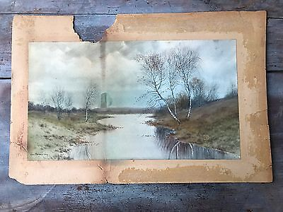 George Howell Gay 19th Century Impressionist Painting Landscape New England