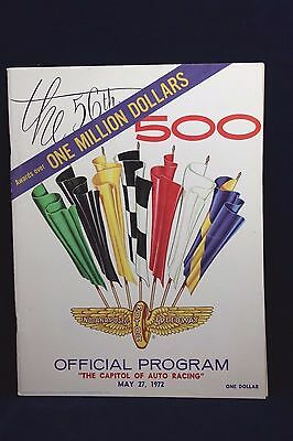 1972  INDIANAPOLIS 500 INDY RACING PROGRAM with insert