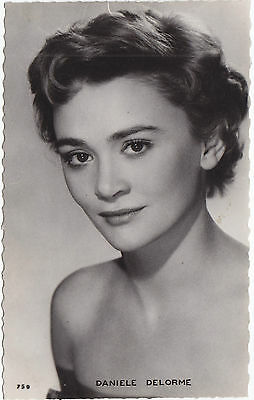 DANIELE DELORME French Actress Film Producer Real Photo Postcard Editions P. I.