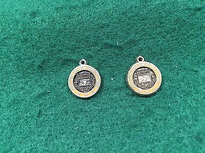 Lot of 2 Vintage Seal Of The Canal Zone Isthmus Of Panama Charms