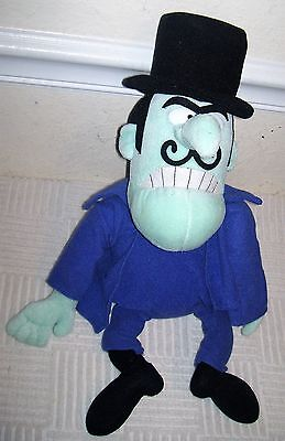 "Adventures Of Rocky & Bullwinkle & Friends SNIDELY WHIPLASH 16"" Plush, Villain"