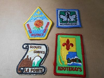 (Sg8-R)  Four Listed Canadian Scout Badges Unused    Canadian Scout Badges