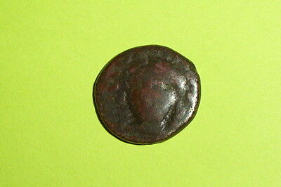 Ancient GREEK COIN of IONIA KOLOPHON 190 BC-30 BC apollo tripod lyre countermark