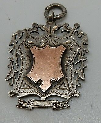 Antique 1903 Hallmarked Sterling English Professional Skates & Cycle Award Fob