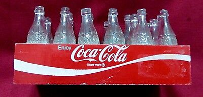 Coca-Cola 24 Plastic Bottle Case With Clear Bottles Complete
