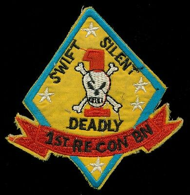 USMC 1st Recon Bn Vietnam Theater Made Patch E-1