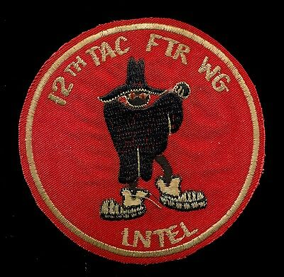 USAF 12th Tactical Fighter Wing Intel Patch A-6