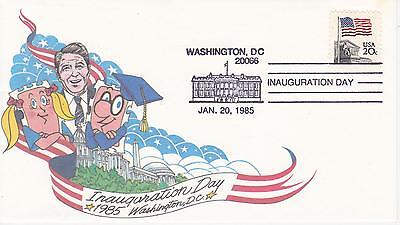 Fdc First Day Event Cover Inauguration-1985 Ronald Reagan Unknown Cachet Maker