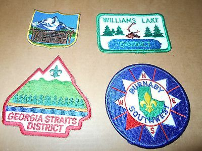 (Sf8-R) Four Listed Unused British Columbia Scout Badges  Canada Scout Badges