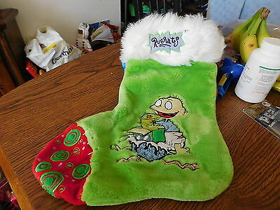 Vintage 1997 Nickelodeon Rugrats Tommy Pickles Green Christmas Stocking