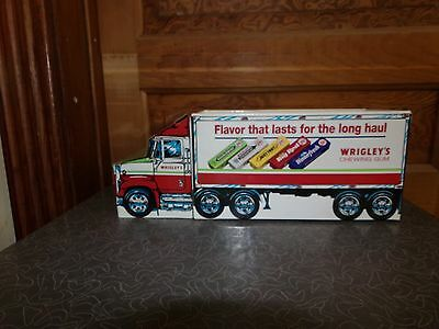 Vintage Wrigley's Chewing Gum Cardboard Semi Truck Store Counter Display