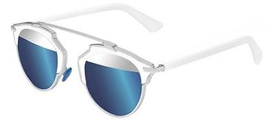 9b7ceba67da Christian Dior SO REAL 18 7R palladium white silver blue mirror Sunglasses