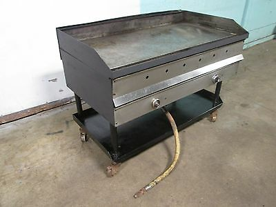 "48""w Heavy Duty Commercial Natural Gas 4 Burners Griddle/flat Top Grill On Stand"