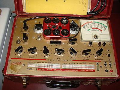 Hickok Model 6000 Tube Tester, Working, Radio Audio Amplifier Servicing