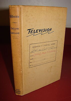 Television, Sheldon and Grisewood, 1929 Scanning Disc TV Book, Rare