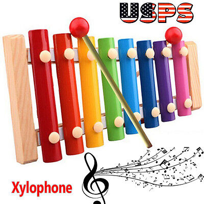 Kids Child Musical Toys Xylophone Wisdom Development Wooden Instrument【US Stock】