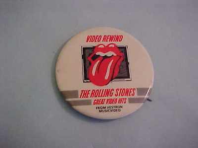 Video Rewind The Rolling Stones Great Video Hits  Pinback Button