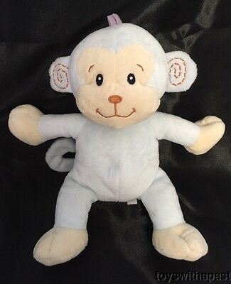 "Koala Baby Blue MONKEY Rattle 9"" Plush Star Paw Stuffed Animal Toy"