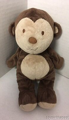 Carters MONKEY Plush Brown Tan #99338 Just One Year Stuffed Animal Baby Toy
