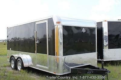 New 2017 7 X 16 7X16 Enclosed Cargo Motorcycle Trailer - Loaded W/ Options ! ! !