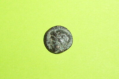Ancient GREEK COIN 350 BC grapes TEMNOS AEOLIS dionysus god of wine mythology