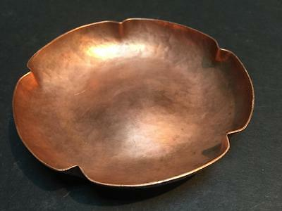 AG Barton Solid Hand Wrought Hammered Copper Dish