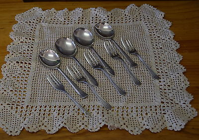Vintage Silverplate Mixed Cake Forks Dessert Spoons Sheffield Harrison Bros EPNS