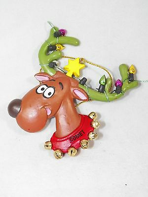 Comet Reindeer with Light Decorated Antlers Christmas Tree Ornament new holiday