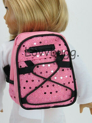 "New Pink Sequin Backpack for 18"" American Girl Doll Lovvbugg Widest Selection"