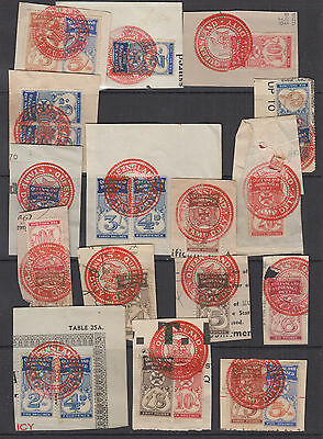 QLD 1930 Numerical IMPRESSED DUTY-Revenue- Elsmore Cat $100+(16 pieces)