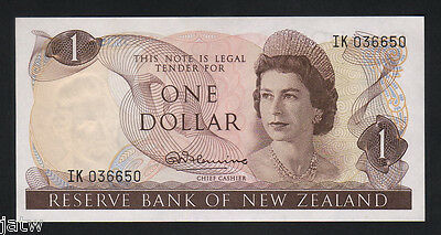 New Zealand  P-163a. (1967-68) One Dollar - Fleming... UNC
