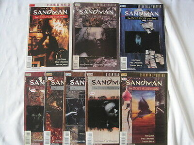 "SANDMAN 9 - 16  ""DOLL'S HOUSE""  SET of 8 by GAIMAN. DC ESSENTIAL VERTIGO.1997"