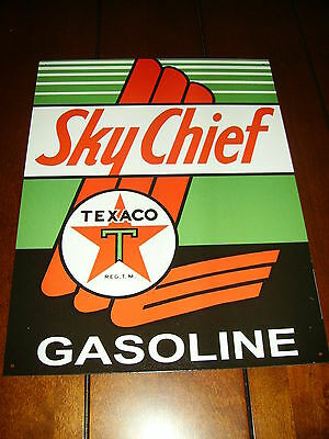 Texaco Skychief Gas Oil Sign -Official Licensed Product-Brand New Metal Sign--