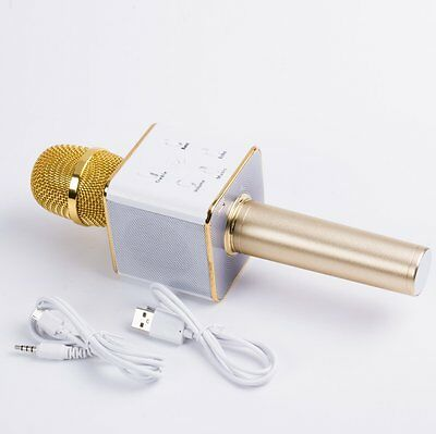 Q7 Portable Wireless Bluetooth Speaker Microphone With 2600mAh GOLD