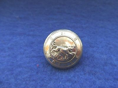 Post Wwii Federation Of Malaya Police 19Mm Silver Plated Button, Firmin
