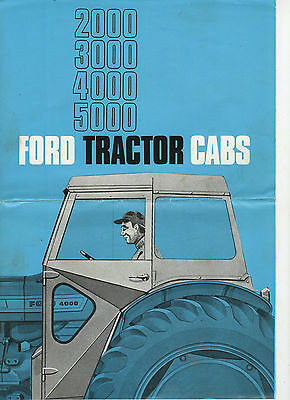 Ford 2000 3000 4000 5000 Tractor Cabs Sales Brochure