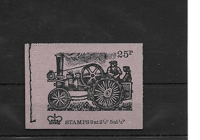 GB 1971 October - Veteran Transport #3 25p Stitched Stamp Booklet - DH43