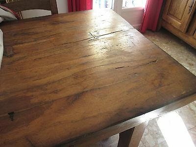 Grande Table De Ferme Chene Massif