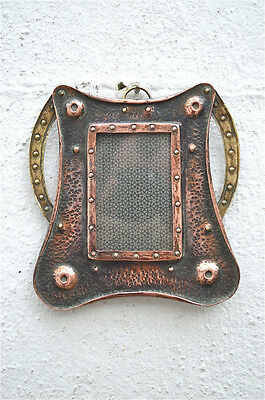 Beautiful Arts and Crafts photograph frame copper brass photo frame circa.1900