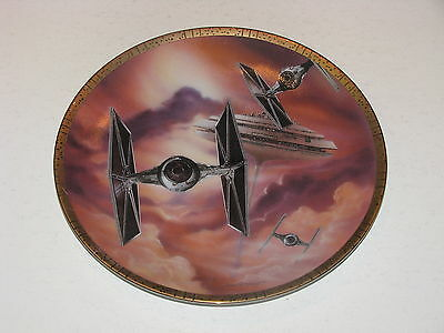 Star Wars Hamilton Collection Space Vehicles Tie Fighter Collector Plate