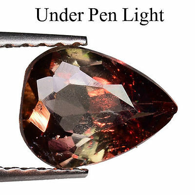 1.125Cts Super Top Luster Colour Change Brown Natural Axinite Pear Gemstone