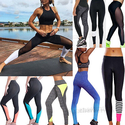Women Yoga Fitness Leggings Exercise Running Gym Stretch Sports Pants Trousers