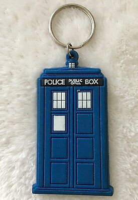 Doctor Dr Who Tardis Rubber Keyring Key Chain By Pyramid NEW *Free P&P*