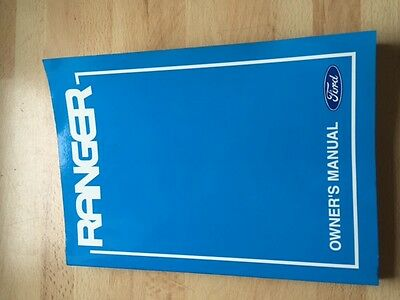 FORD RANGER OWNERS MANUAL OWNERS GUIDE OWNERS HANDBOOK from 2006 to 2011
