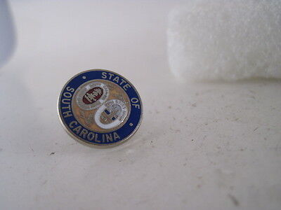 South Carolina    State Seal cloisonne  logo  lapel pin (3f21 1)