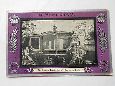 In Memoriam postcard King Edward V11 1910 Queen Mother & Dowager Empress Russia