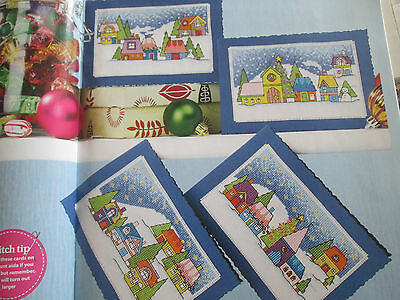 'Stitch A Snowscape' Durene Jones card cross stitch charts(only)