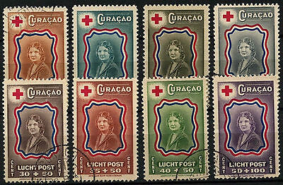 Curacao 1944 SG#244-231 Red Cross Fund Used Set #D43889